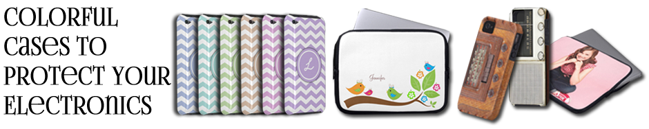 Colorful and stylish cases to protect your electronics